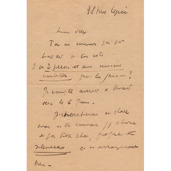 LETTER - Céline to Gen Paul