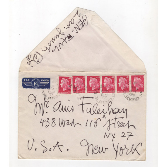 LETTER - ENVELOPE January 21, 1970