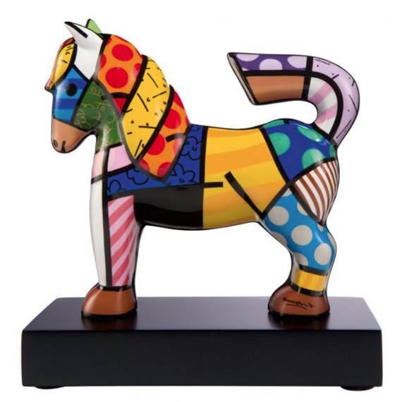 Le petit cheval -sculpture-romero-britto