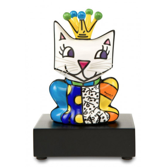 The small king's cat -sculpture-romero-britto