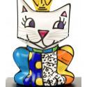 The small king's cat -sculpture-romero-britto