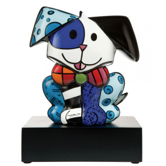 The big dog -sculpture-romero-britto