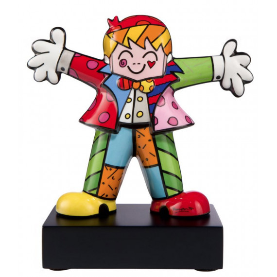 Un petit calin -sculpture-romero-britto