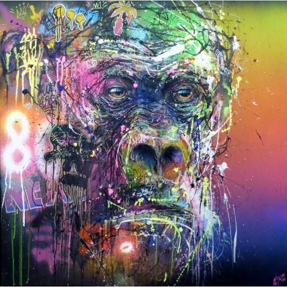 Gorille dans la brume