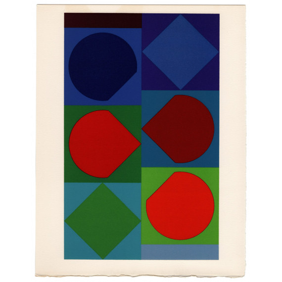 Victor Vasarely - Beryll - Lithographie originale