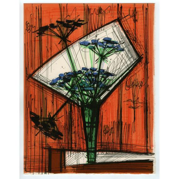 Bernard Buffet - Les ombelles - Lithographie originale