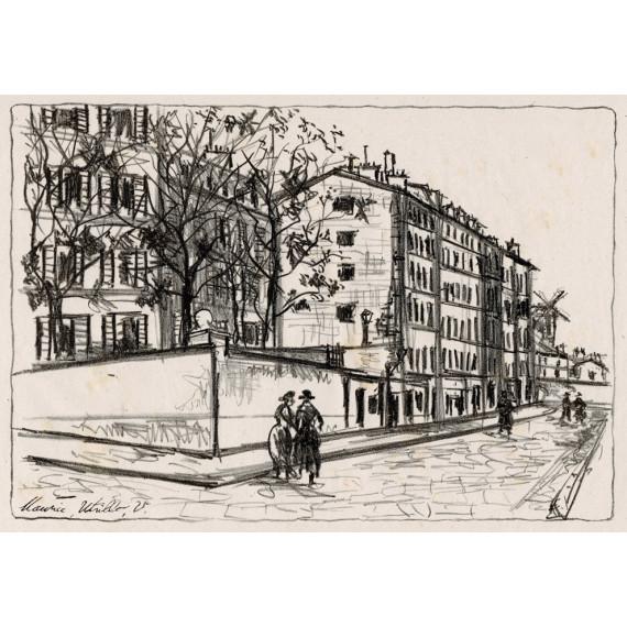 La Rue d'Orchampt à Montmartre