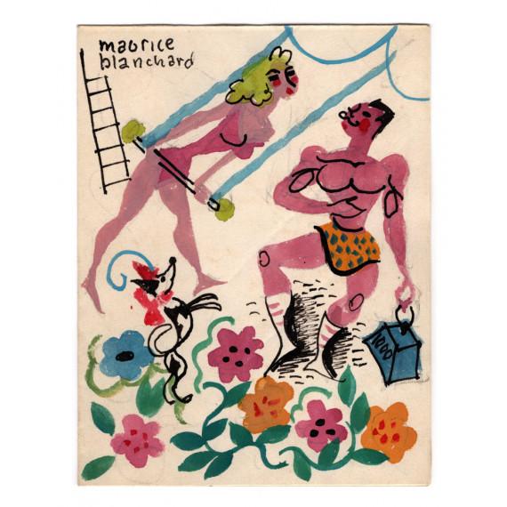 Maurice Blanchard - Scène de cirque - 1958