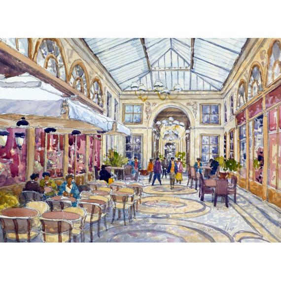 Passage à Paris -paris-jean-charles-decoudun-aquarelle