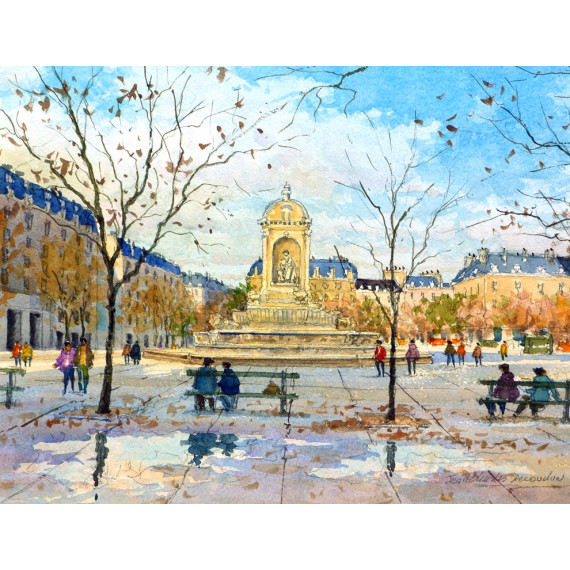 Place  Saint-Sulpice à Paris