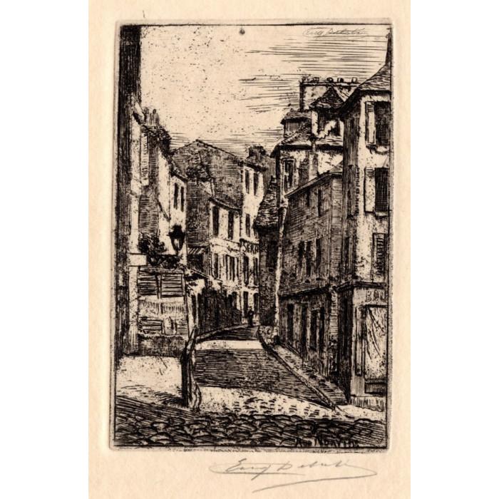 La Rue Norvins à Montmartre