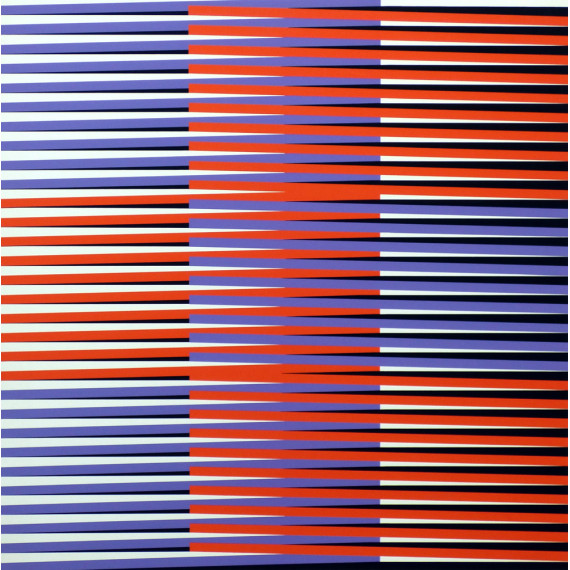 Carlos Cruz-Diez - Sérigraphie originale - Couleur Additive - 1970