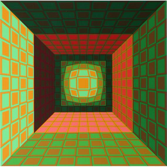 Victor Vasarely - Kaldor 1980 - Lithographie originale