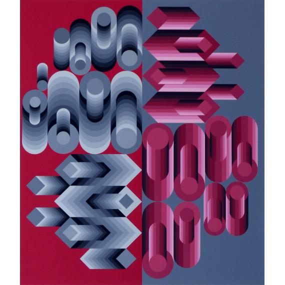 Victor Vasarely - Tecture 1983 - Lithographie originale