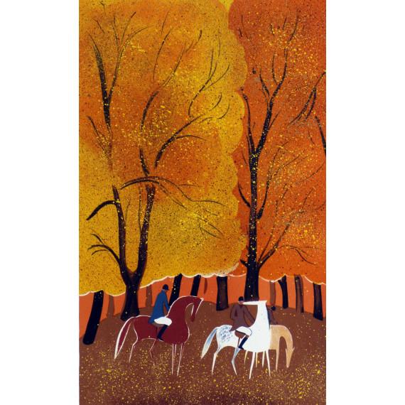 Serge LASSUS - Cavaliers, forêt orange