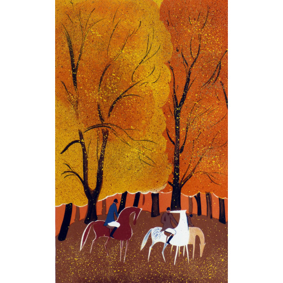 Serge LASSUS - Riders, orange forest