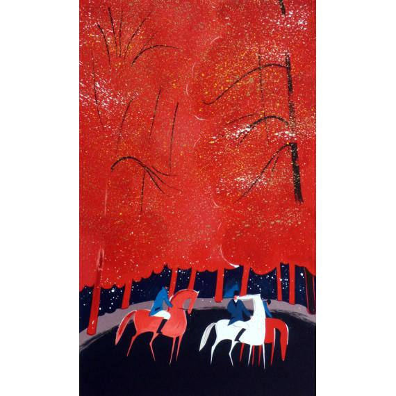 Serge LASSUS - Cavaliers, forêt rouge