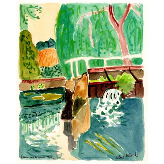 Écluse sur le grand Morin, 1990 -robert-delval-original-artwork