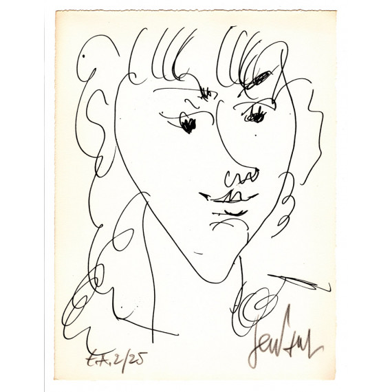 Lithograph - Portrait of Lola