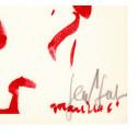 Lithographie - Portrait de François Mauriac-gen-paul