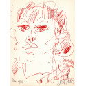 Lithographie - Portrait de Jacqueline Danno