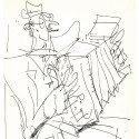 Lithographie - L'accordéoniste -gen-paul