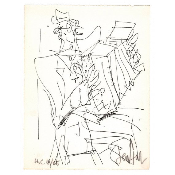 Lithograph - The Accordionist