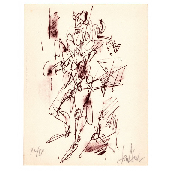 Lithograph - The Violonist