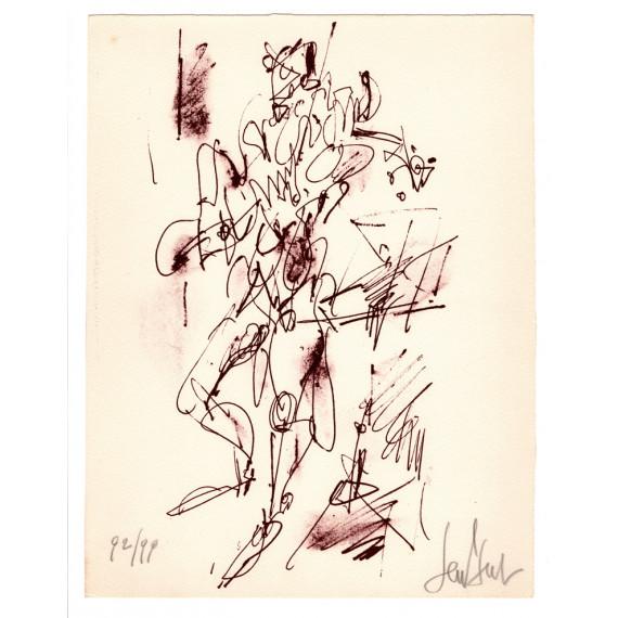 Lithographie - Le violoniste -gen-paul