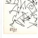 Lithographie - Les joueurs de cartes -gen-paul