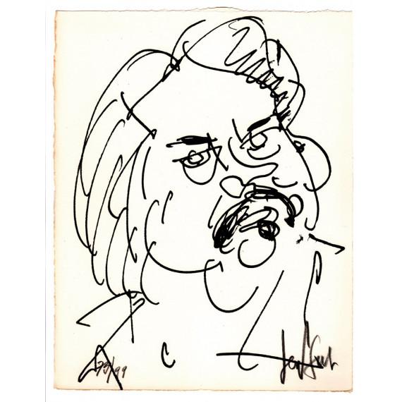Lithograph - The portrait of Balzac