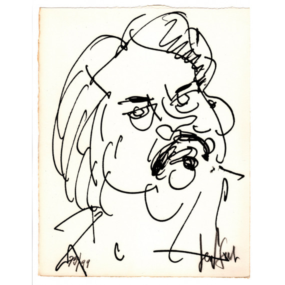 Lithograph - The portrait of Balzac