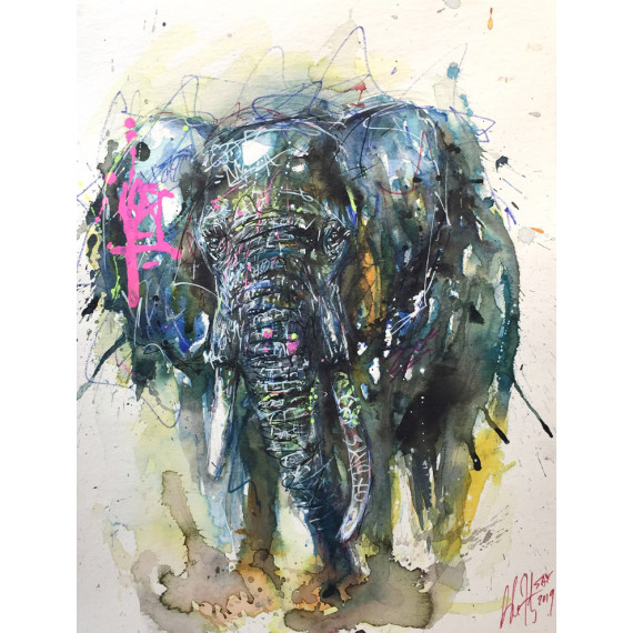 the-elephant-sax-artwork-aquarelle-originale-street-art-watercolor