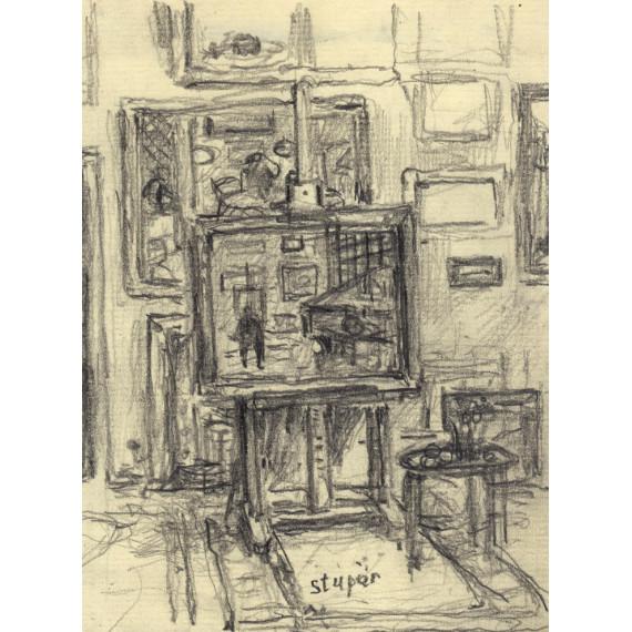 L'atelier du peintre Marko Stupar à Paris