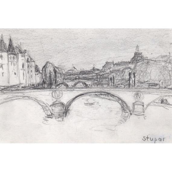 The little bridge of Paris