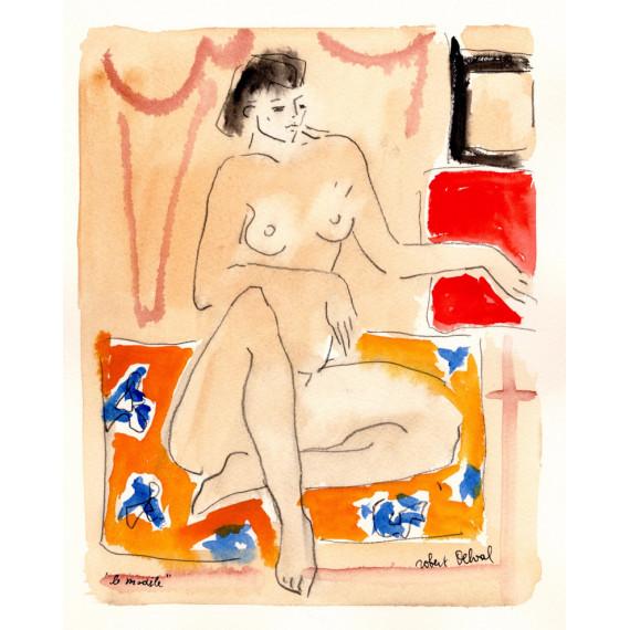 Le Modèle 1989 -robert-delval-original-artwork