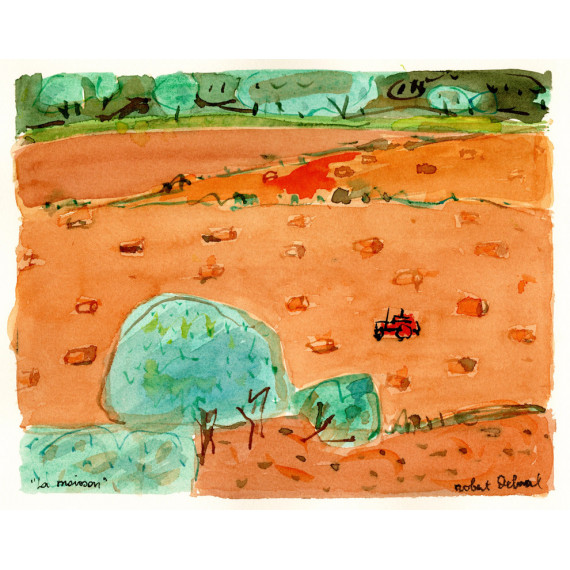 La moisson 1989 -robert-delval-oeuvre-originale