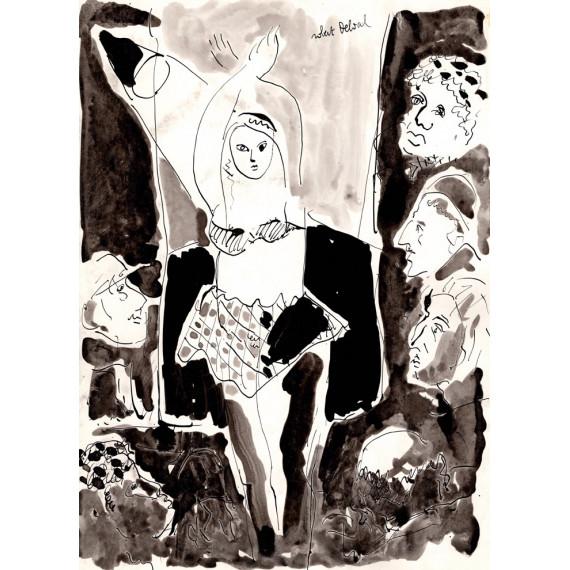 Le Striptease 1988 -robert-delval-oeuvre-originale