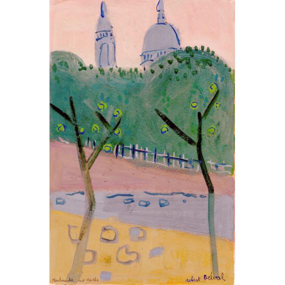 Montmartre, rue Berthe 1986 -robert-delval-original-artwork