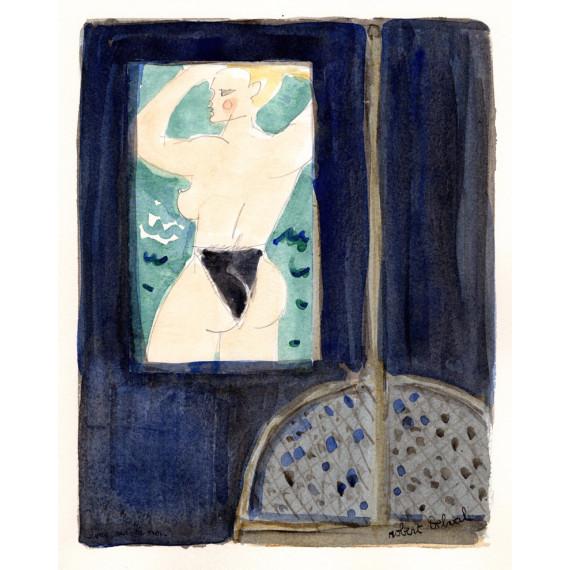 Vue sur la mer 1990 -robert-delval-original-artwork