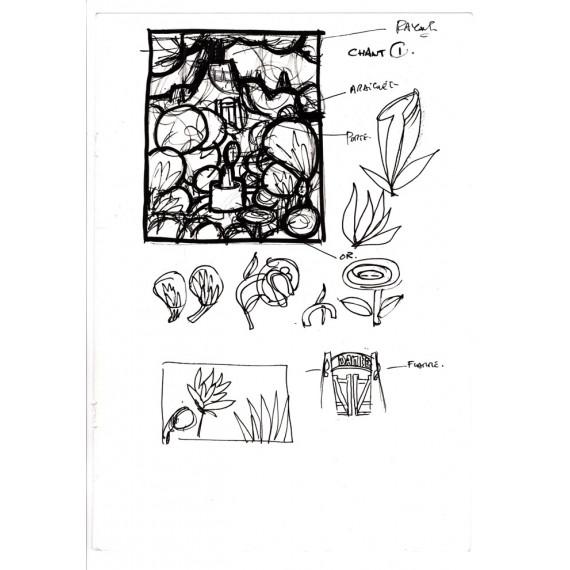 La Divine Comédie : Book + Print + Sketch N°2