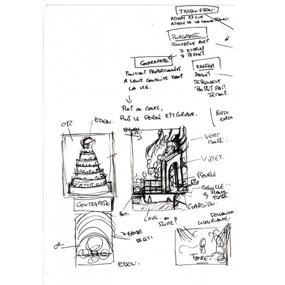 La Divine Comédie : Book + Print + Sketch N°3