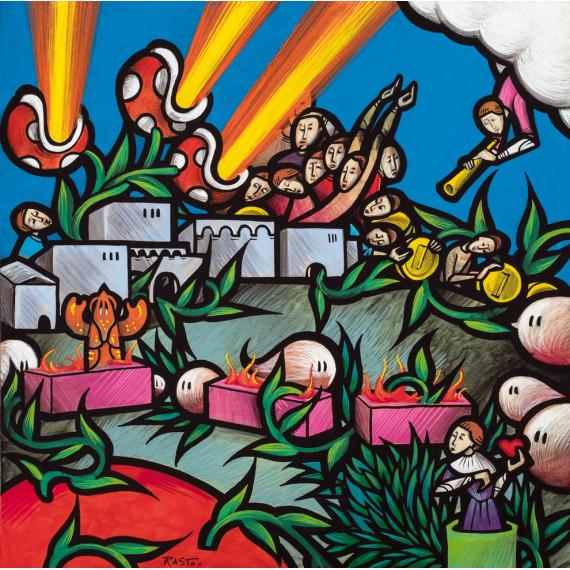 Le bas Enfer « Aux portes de la cité de Dité,  Le fleuve Phlégéton et la forêt des Harpies »