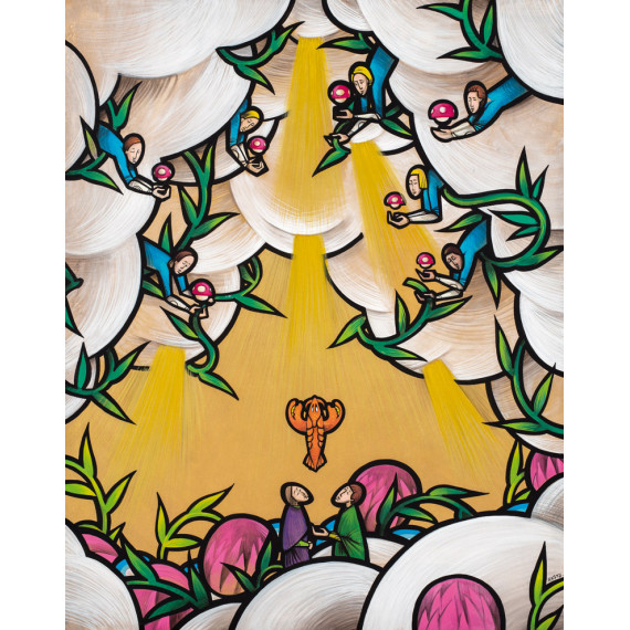 Les Portes du Paradis Les Esprits étincelants, élévation de Koons