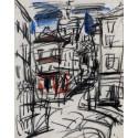 Drawing : Montmartre rue Norvins