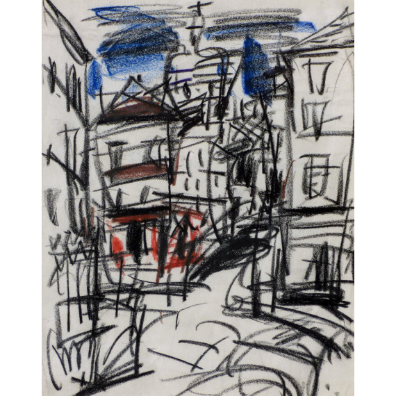 Drawing : Montmartre rue Norvins
