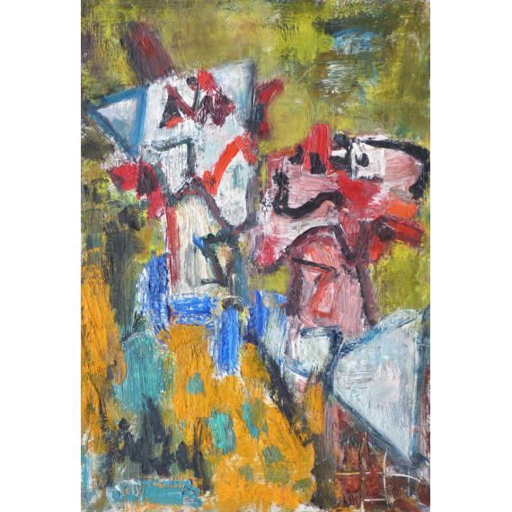 Peinture : Les deux clowns