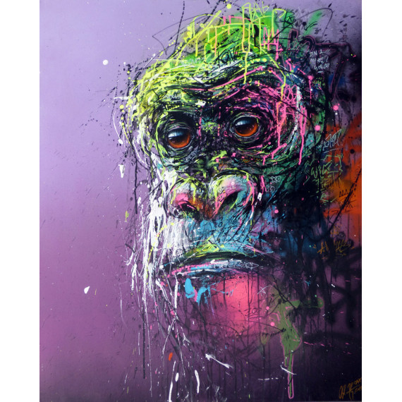 urban-Chimpanzee II-by-henry-blache-sax-street-urban-art