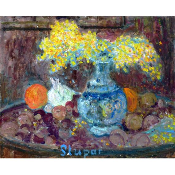 Petit vase aux Mimosas