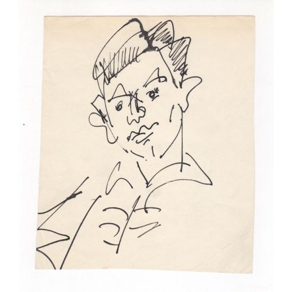 Dessin - Portrait de jeune homme